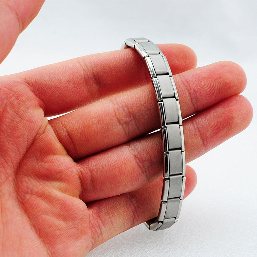 Titanium Steel Health Function Germanium Stretchable Bracelet