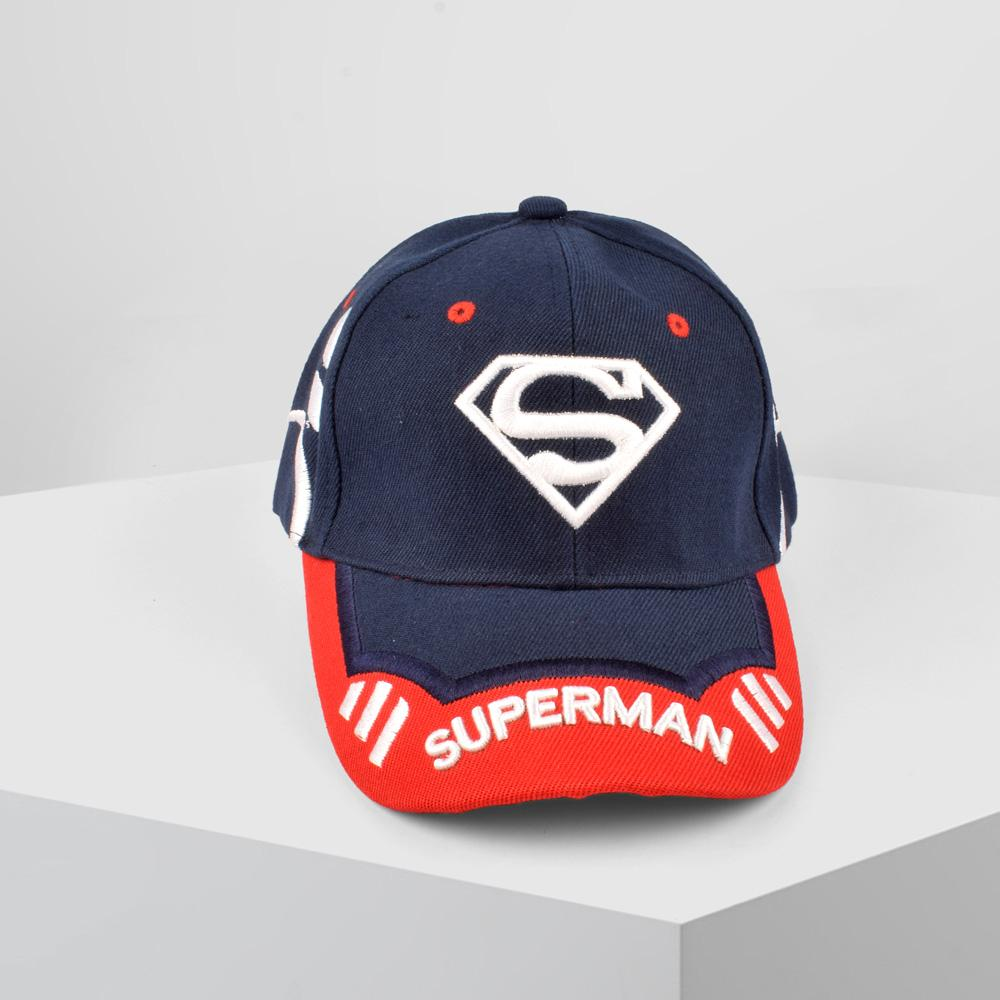 MB Superman Logo Embro P Cap Headwear MB Traders Navy