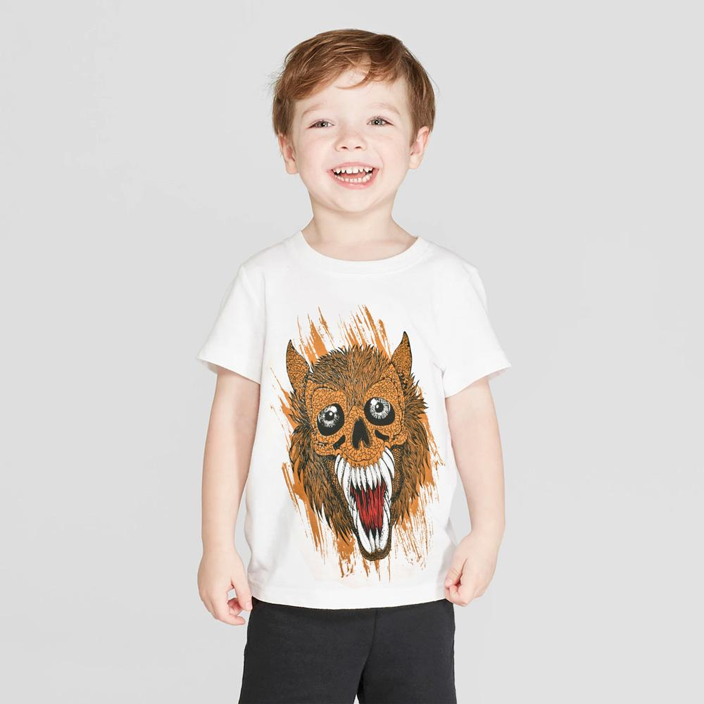 H&M Devil Design Kids Tee Shirt Boy's Tee Shirt First Choice White 3-4 Years