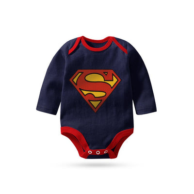 Polo Republica Superman Logo Long Sleeve Baby Romper Babywear Polo Republica 0-3 Months