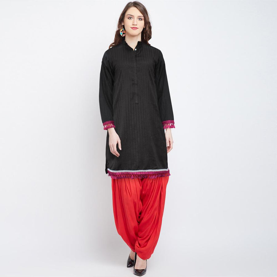 Bohotique Yaita Stitched Straight Dyed Kurta