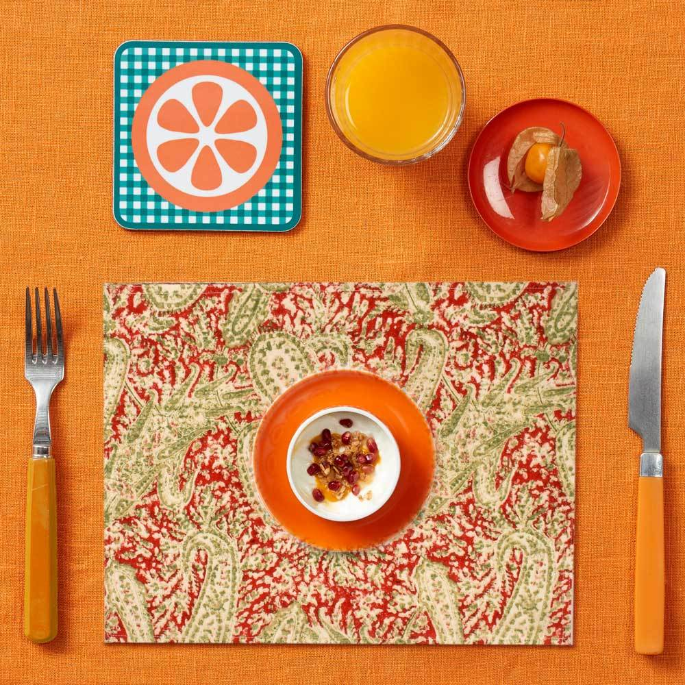 MKS Malacca Linen Closet Set Of Six Placemats Placemat MKS