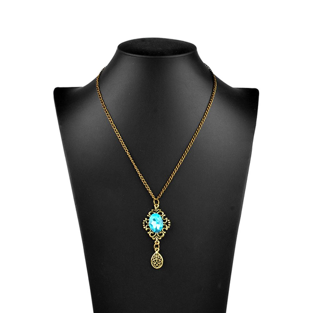 Women's Grebenstein Blue Stone Necklace Jewellery HDY