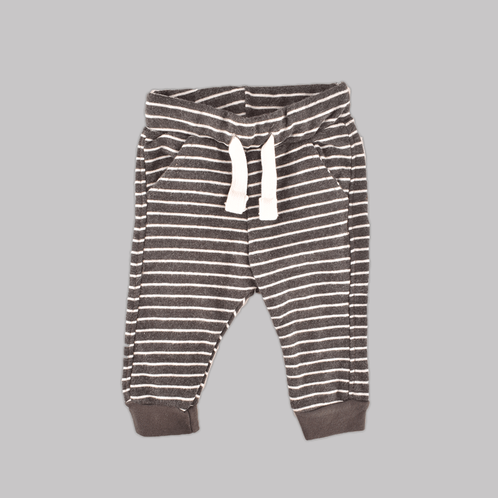 ZR Kids Pin Contrast Stripes Terry Jogger Pants Boy's Trousers First Choice 3-6 Months
