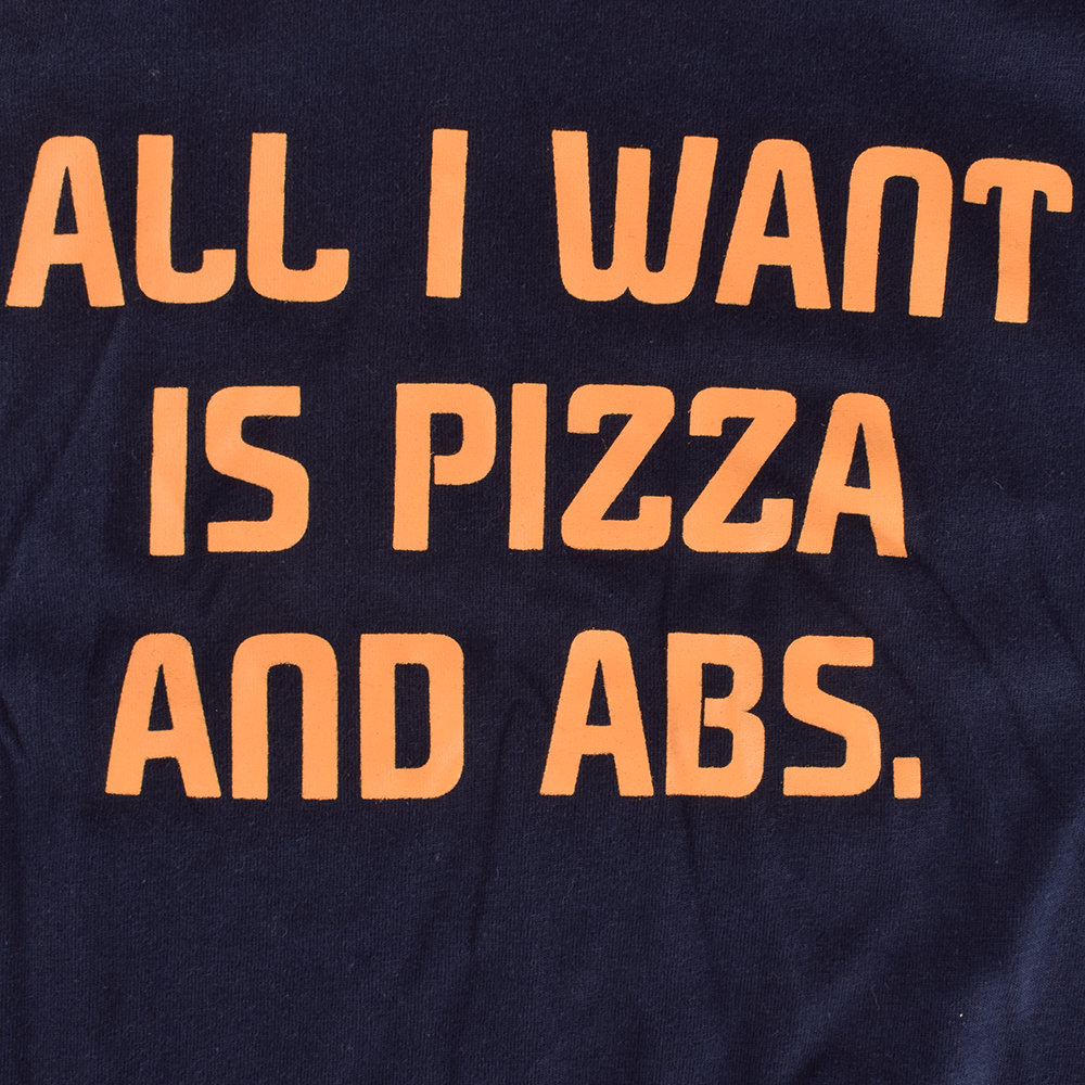 LE All I Want Pizza And ABS Tee Shirt Men's Tee Shirt Image