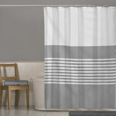 MB Grey Texture One Piece Washroom Curtain Curtain MB Traders