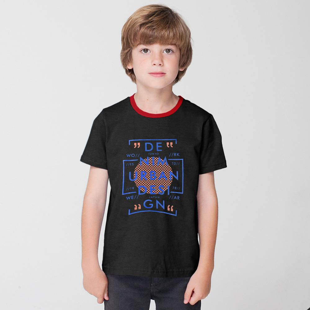 Polo Republica Urban Design Kids Ringer Tee Shirt Boy's Tee Shirt Polo Republica Black Red 2 Years