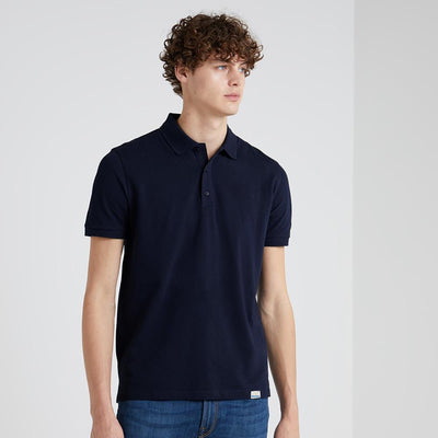 BRTE Men's Classic Polo Shirt Men's Polo Shirt Image Navy XXS