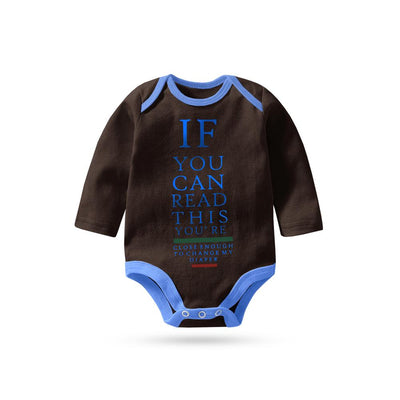 Polo Republica If You Can Long Sleeve Baby Romper Babywear Polo Republica Dark Brown Sky 0-3 Months