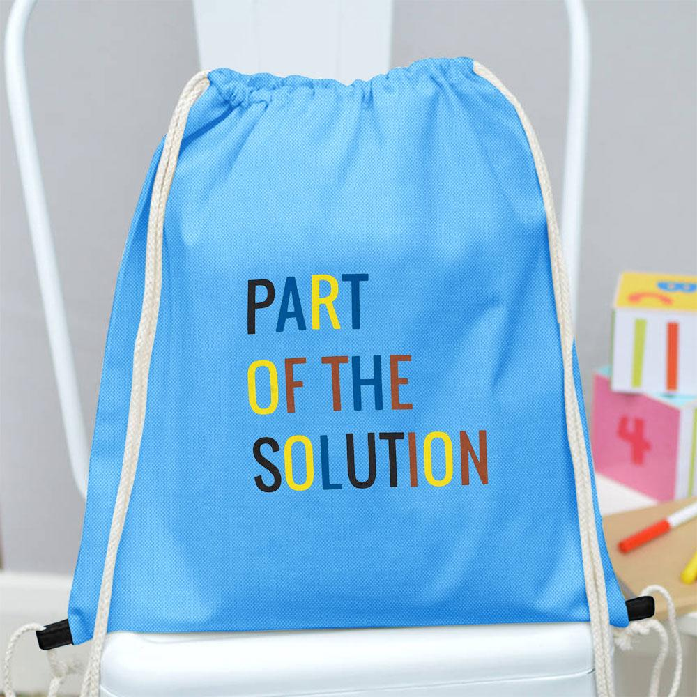 Polo Republica Part Of The Solution Drawstring Bag Drawstring Bag Polo Republica Sky Blue