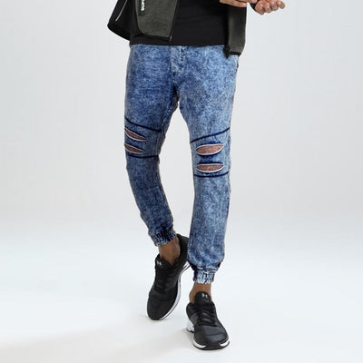 Cropp Stylish Distressed Terry Jogger Pants Men's Jogger Pants First Choice Navy 28 30
