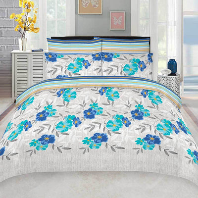 Reha Homes Blossom Design King Bed Sheet Bed Sheet Reha Home