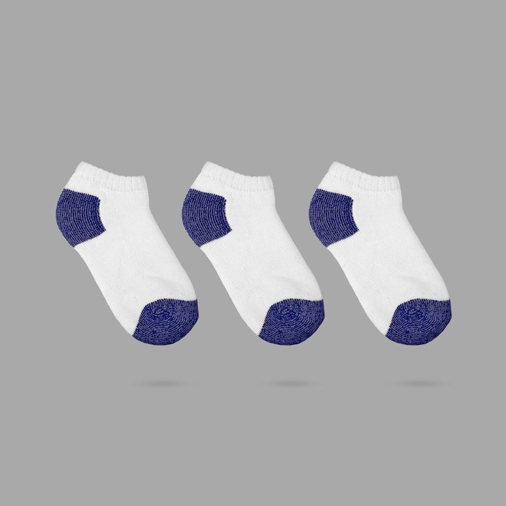 Polo Republica Camento Kids 3 Pairs Low Cut Sports Socks Socks Mouzay White Royal EUR 26-29
