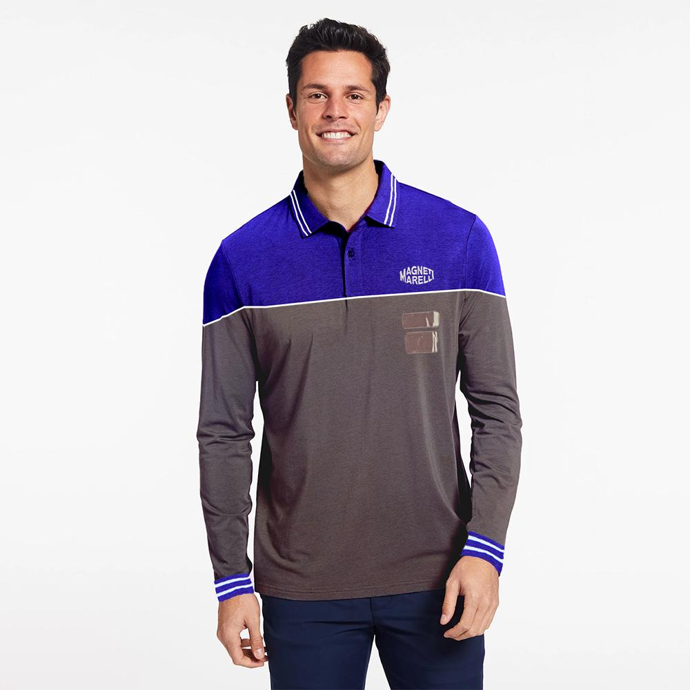 MM Men's Luxuriant Long Sleeve Polo Shirt
