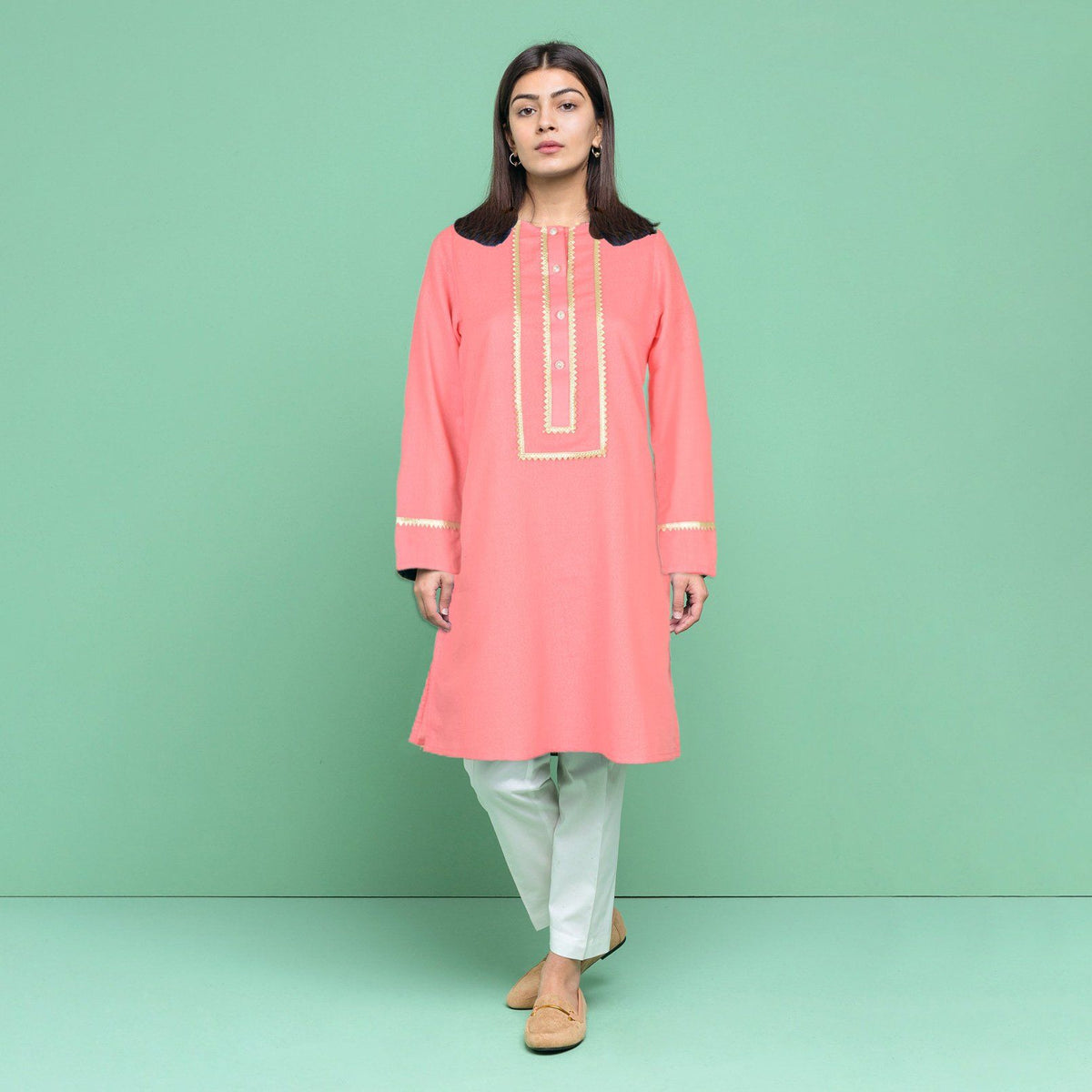 Safina Women's Exquisite Style Stitched Kurti Women's Stitched Kurti Bohotique S