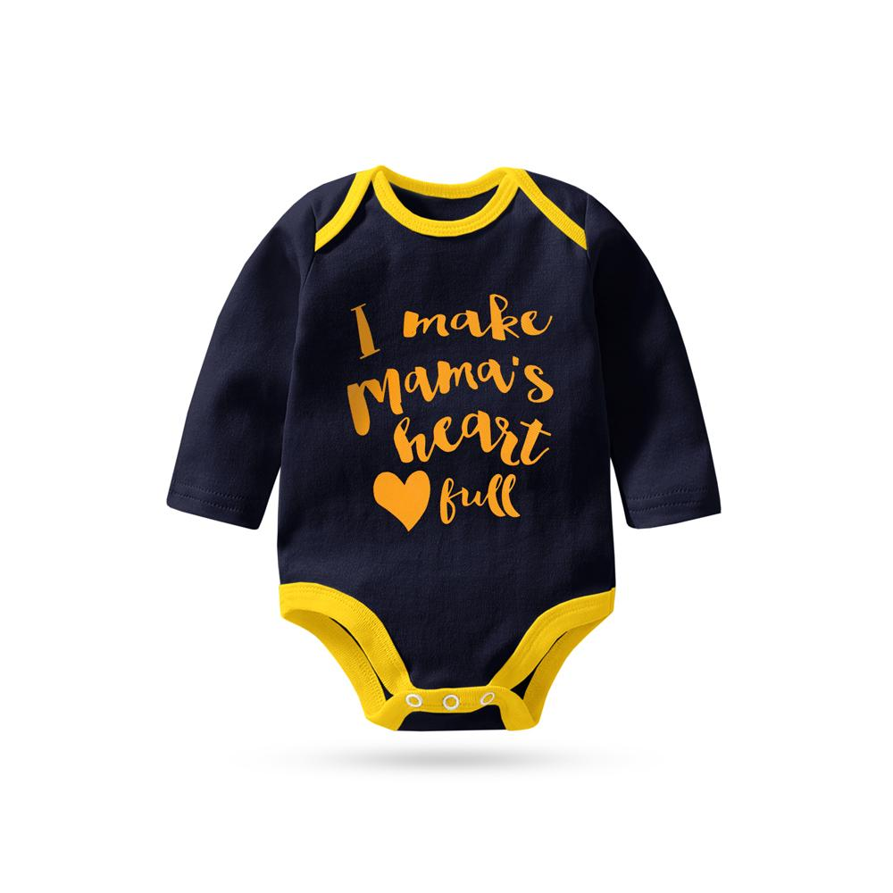 Polo Republica Mama's Kid Long Sleeve Baby Romper Babywear Polo Republica Navy Yellow 0-3 Months