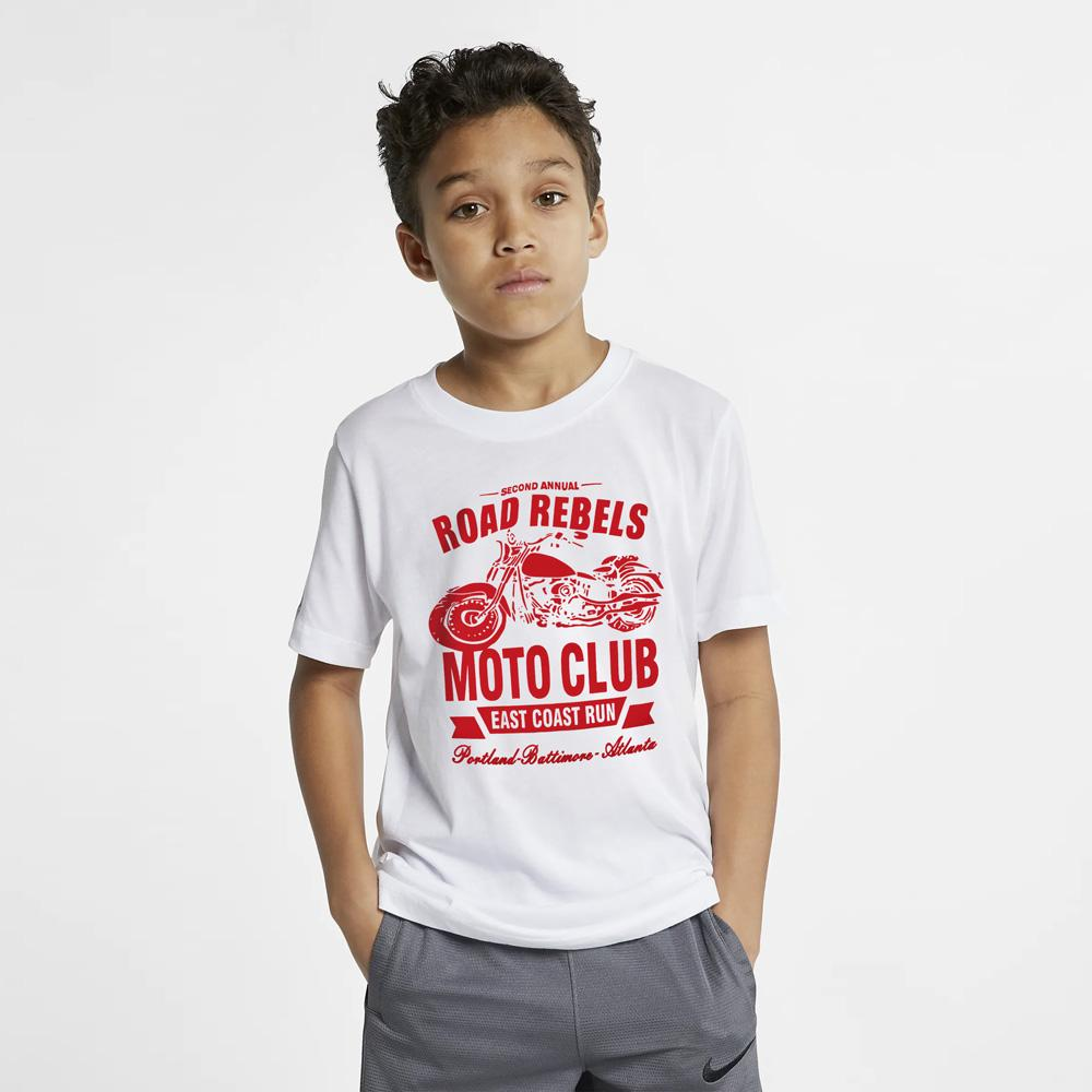 HM Road Rebels Moto Club Kid's Tee Shirt Boy's Tee Shirt First Choice White Red 2-3 Years