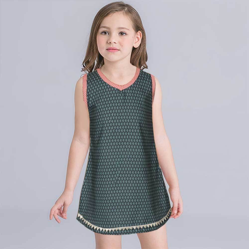Safina Kid's Verviers Sleeveless Frock Girl's Frock Bohotique 2-3 Years