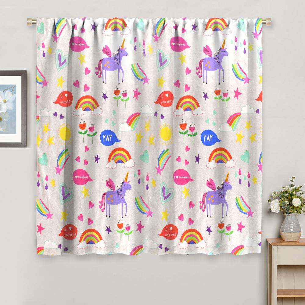 NXT Unicorn Design Printed One Piece Pocket Curtain Curtain MB Traders W-46 x L-54 Inches