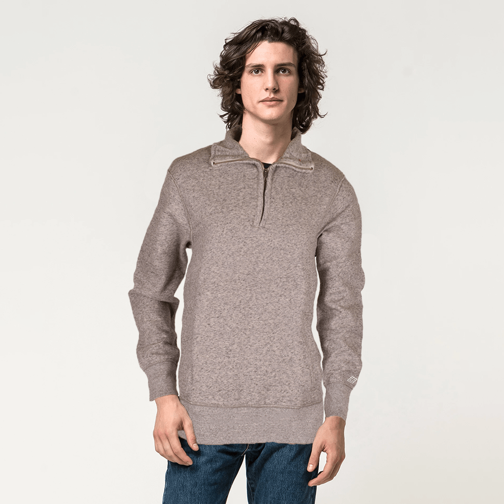 TG (Cut Label) Men's 1/4 Zipper Velsk Brushed Fleece Sweat Shirt Men's Sweat Shirt MAJ S
