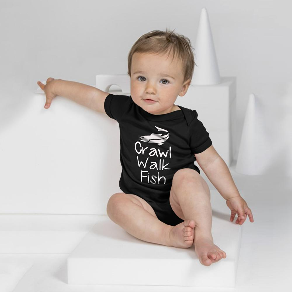 Polo Republica Crawling Baby Romper Babywear Polo Republica Black White 0-3 Months