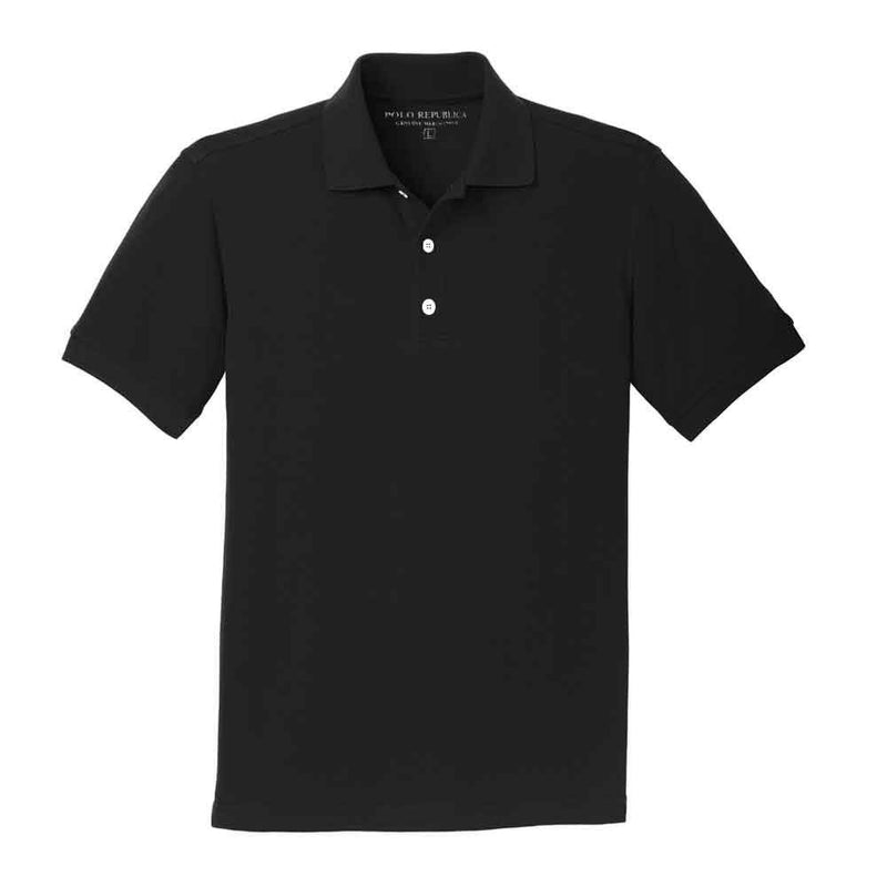 Polo Republica Men's Washington Pique Polo Shirt Men's Polo Shirt Polo Republica Black XS