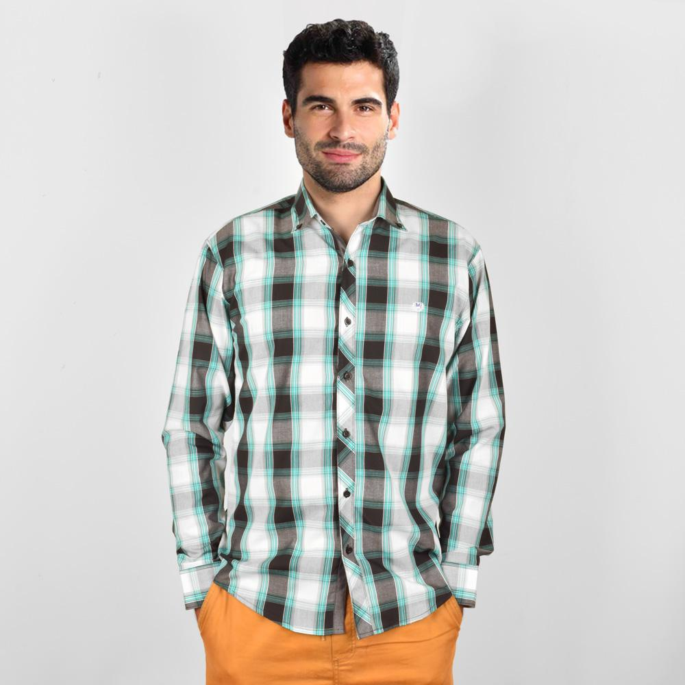 AHE Massimo Dutti Fabulous Check Design Casual Shirt Men's Casual Shirt AHE M