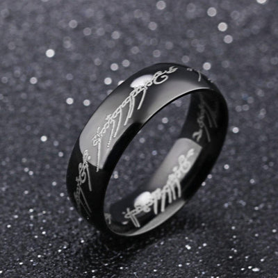 Titanium Steel Men's Ring Men's Accessories Sunshine China Black 7