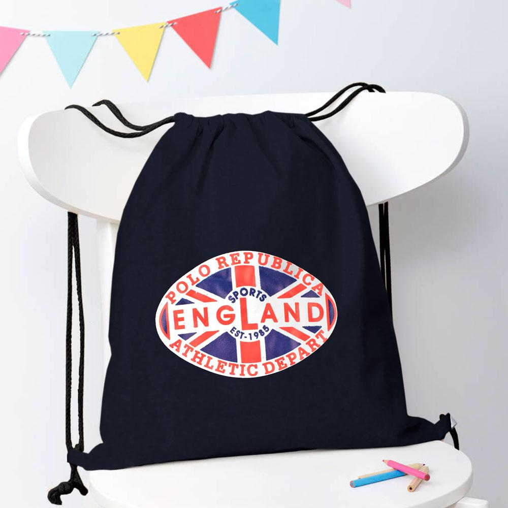 Polo Republica Sports England 1985 Drawstring Bag Drawstring Bag Polo Republica Navy
