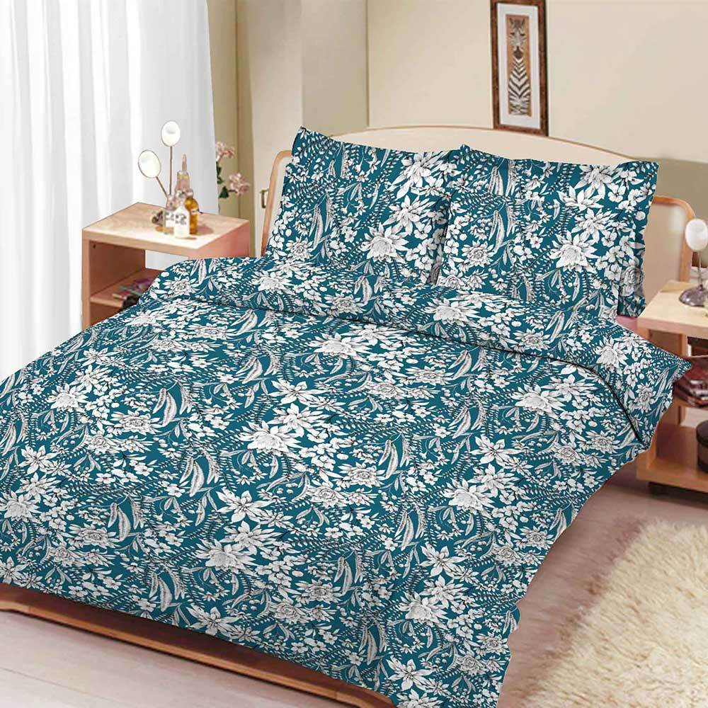 ARC Rauxel Floral Design Double Bed Sheet Bed Sheet ARC