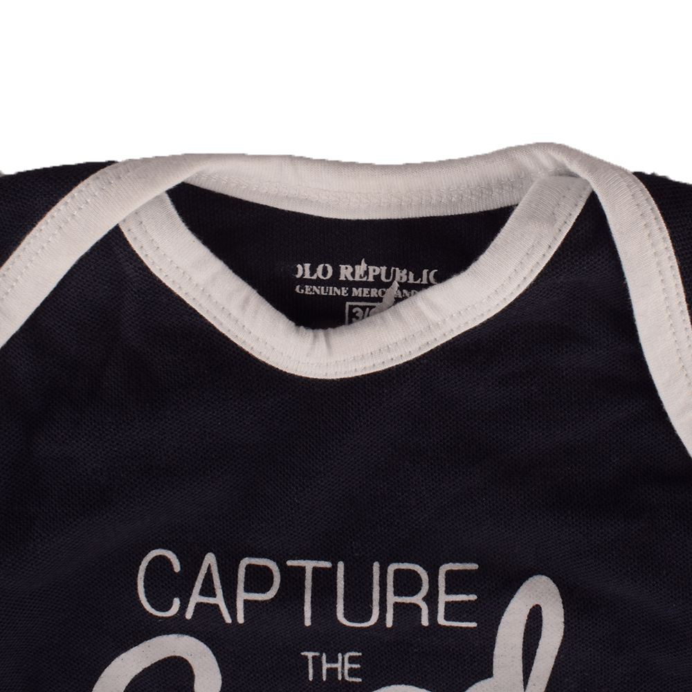 Polo Republica Kid's Capture The Good Times Baby Romper Babywear Polo Republica Navy White 0-3 Months