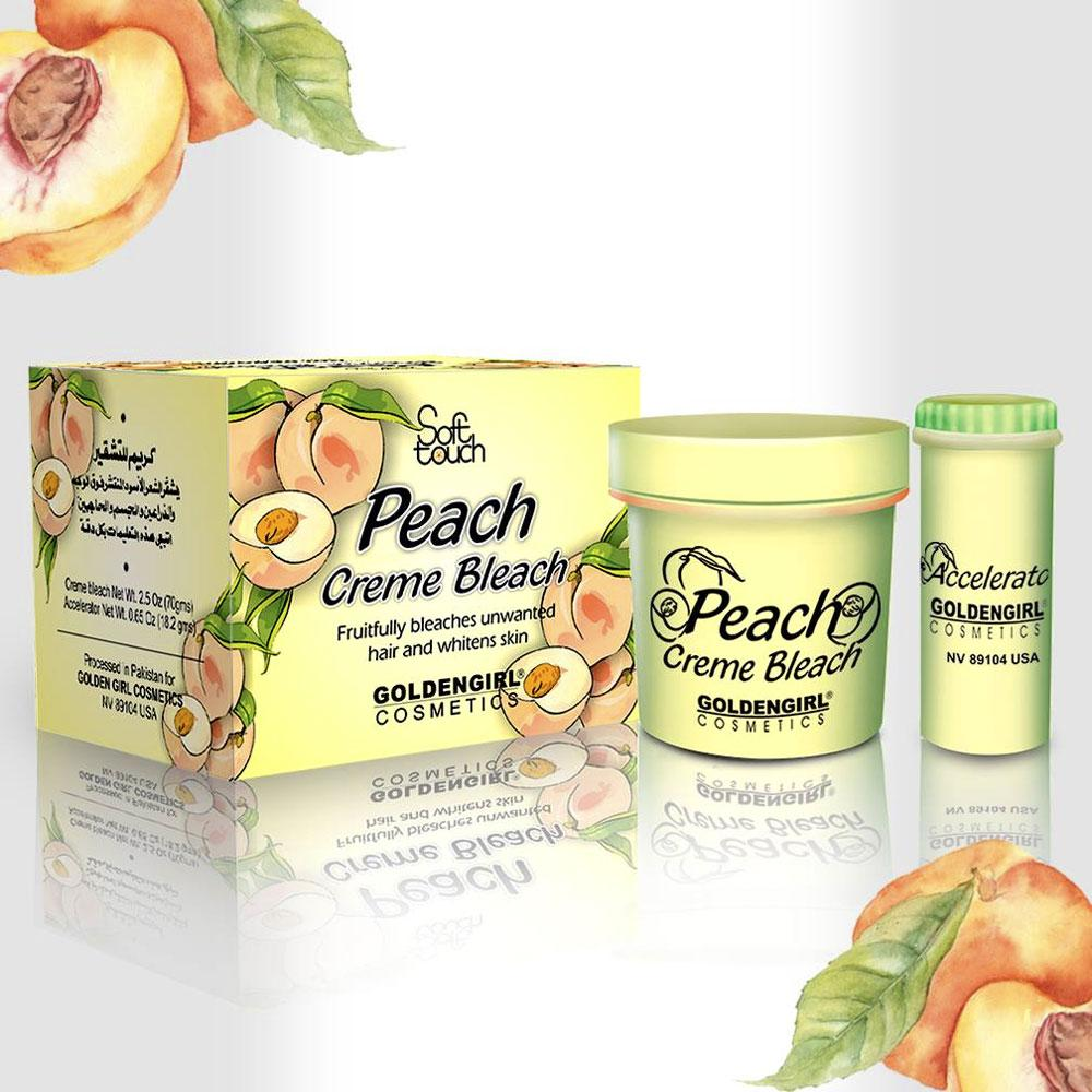 Golden Girl Soft Touch Peach Bleach Creme Trial Pack 24 gm
