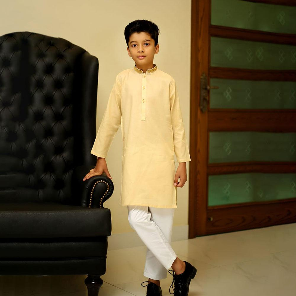 Boy's Badari Ban Embroidery Kurta Men's Kurta YTC 3-4 Years