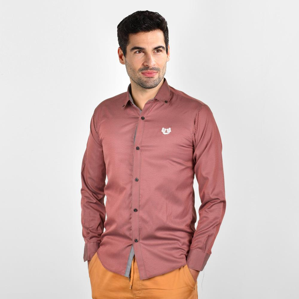 AHE Tampico Fashion Pink Lining Casual Shirt Men's Casual Shirt AHE M
