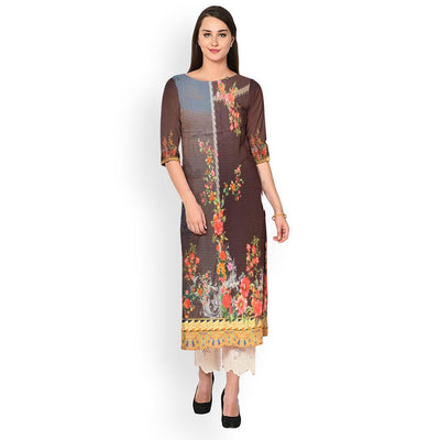 Digital Printed Corning Unstitched Lawn Kurti