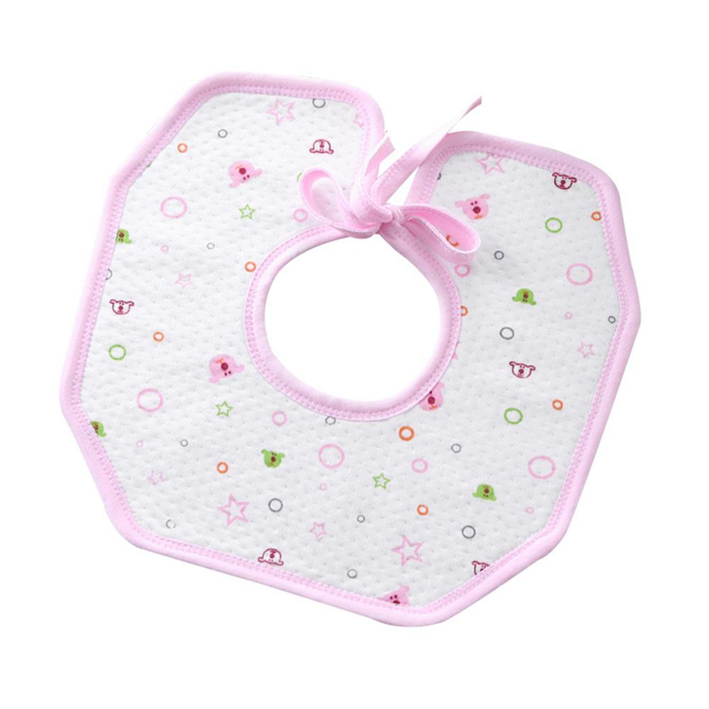 Prehova 360 Degree Rotation Printed Baby Bibs Kid's Accessories Sunshine China White Pink