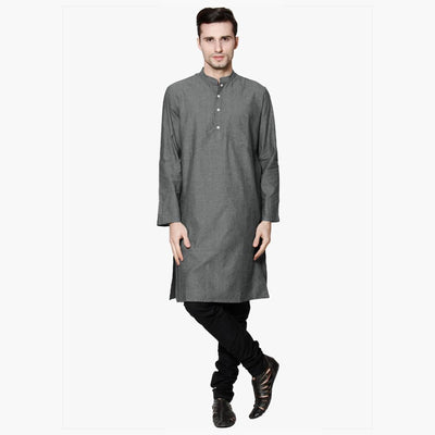 Polo Republica Men's Chambray Classic Dyed Kurta Men's Kurta MAJ