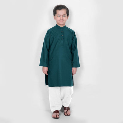 Velvour Boy's Summer Wash & Wear Stitched Kurta Shalwar Boy's kurta set YTC