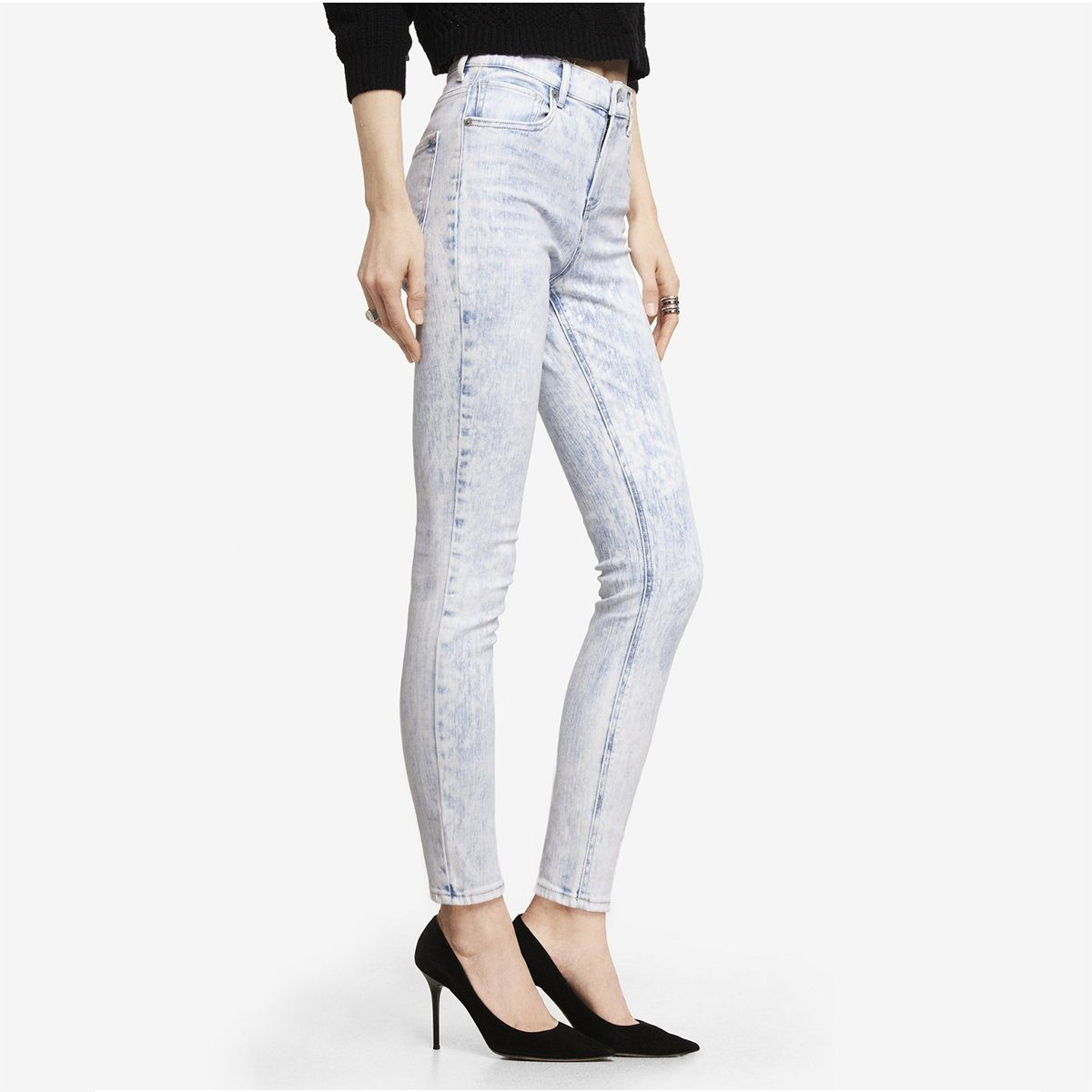 Express Women's Acid Wash Slim Fit Denim Women's Denim SRK 24 27