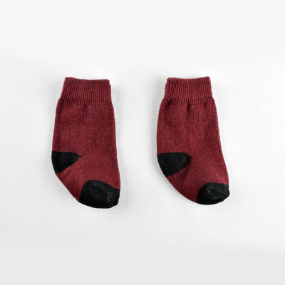 Polo Republica New Born Charming Style Pack of Two Socks Socks RKI Burgundy New Born