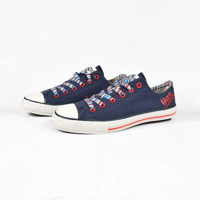 Baoda Women Fashion Daqing Lace Up Canvas Shoes Women's Shoes AGZ Navy EUR 35