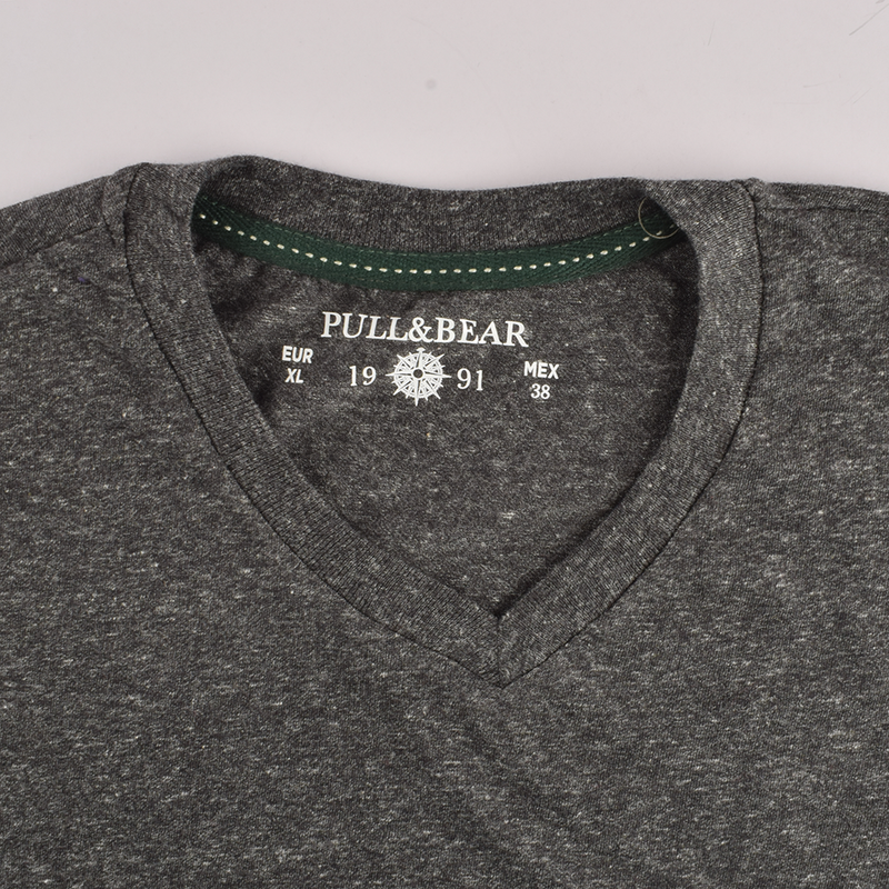 Pull&Bear Plush Style V-Neck Tee Shirt