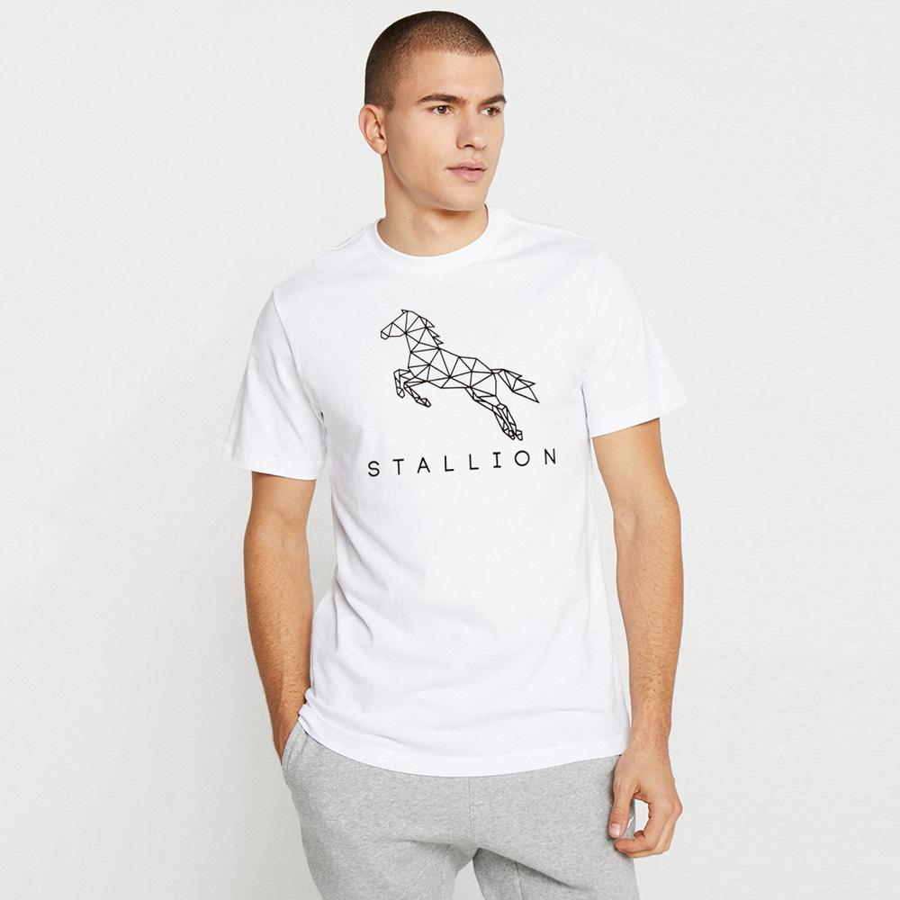 LE Stallion Men's Tee Shirt Men's Tee Shirt Image White Black S