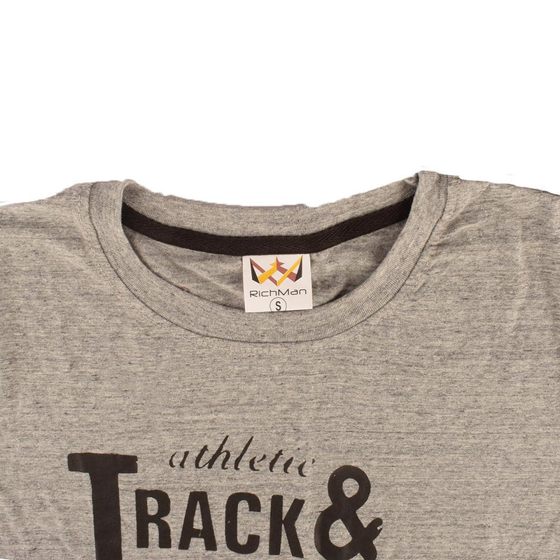 Rich Man Girl's Track & Field 77 Printed Tee Shirt Girl's Tee Shirt ASE Heather Grey XS