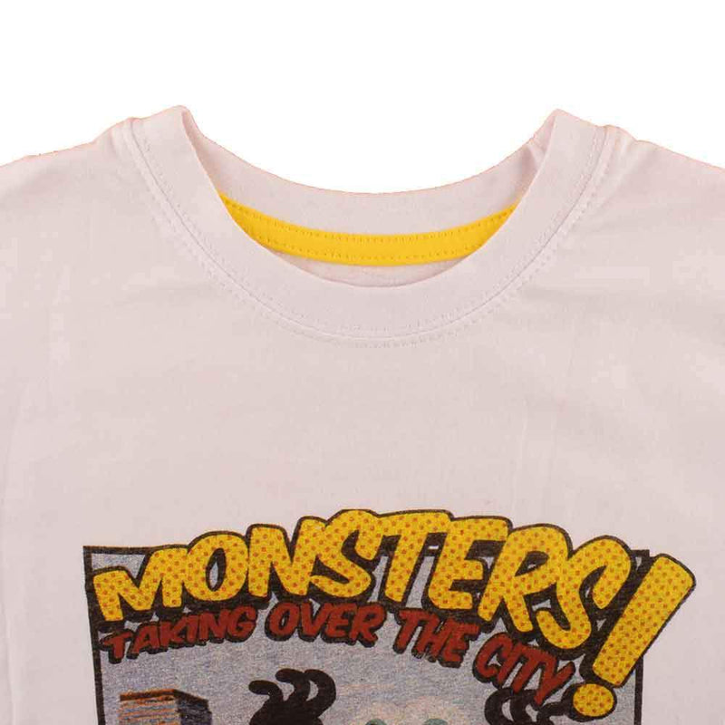 SNC Kid's Monsters Taking Over The City Tee Shirt Boy's Tee Shirt SNC 4