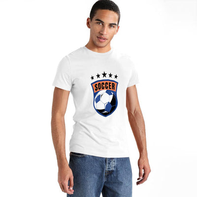 LE Soccer Craze Short Sleeve Crew Neck Tee Shirt Men's Tee Shirt Image