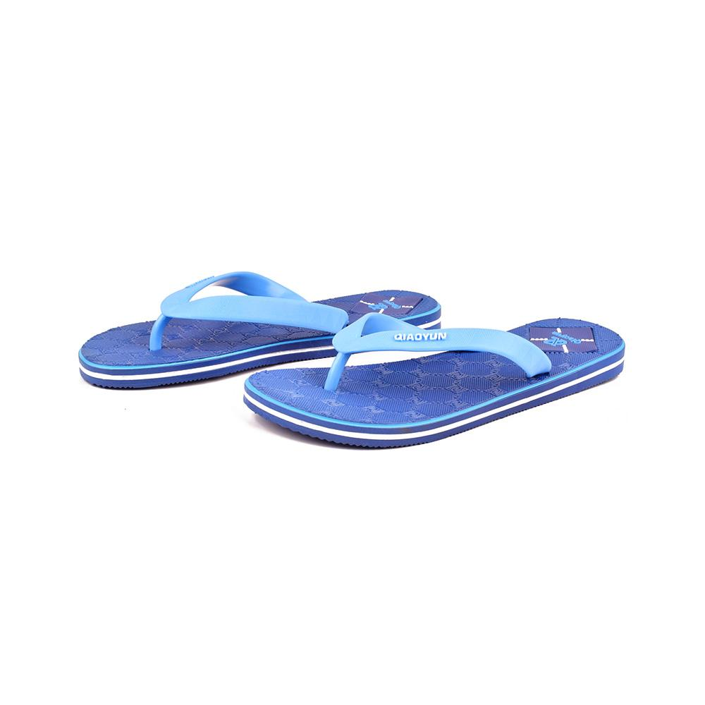 Qiaoyun Men's PVC Flip Flop Men's Shoes Sunshine China Royal Blue EUR 40