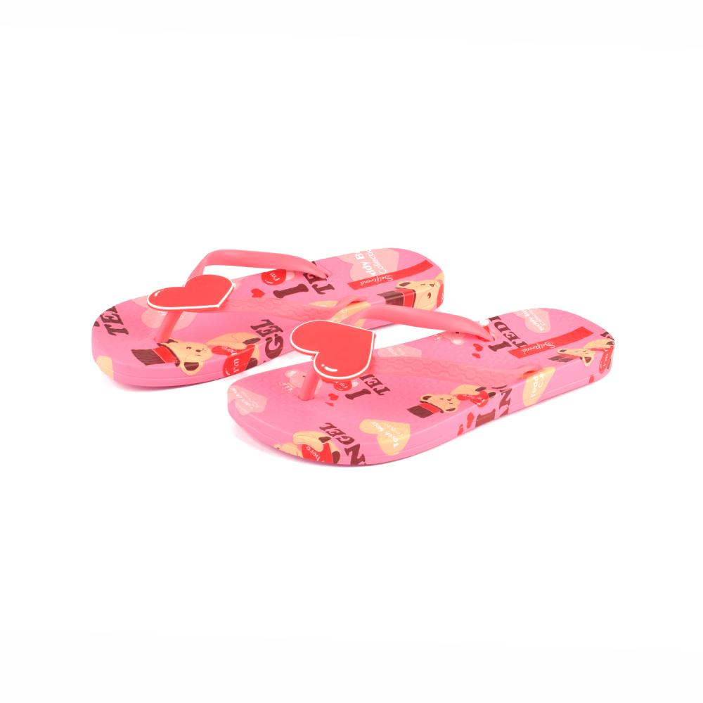 f2183d74868e Women s Teddy Bear Collection I Love Teddy Flip Flop Women s Shoes Sunshine  China ...