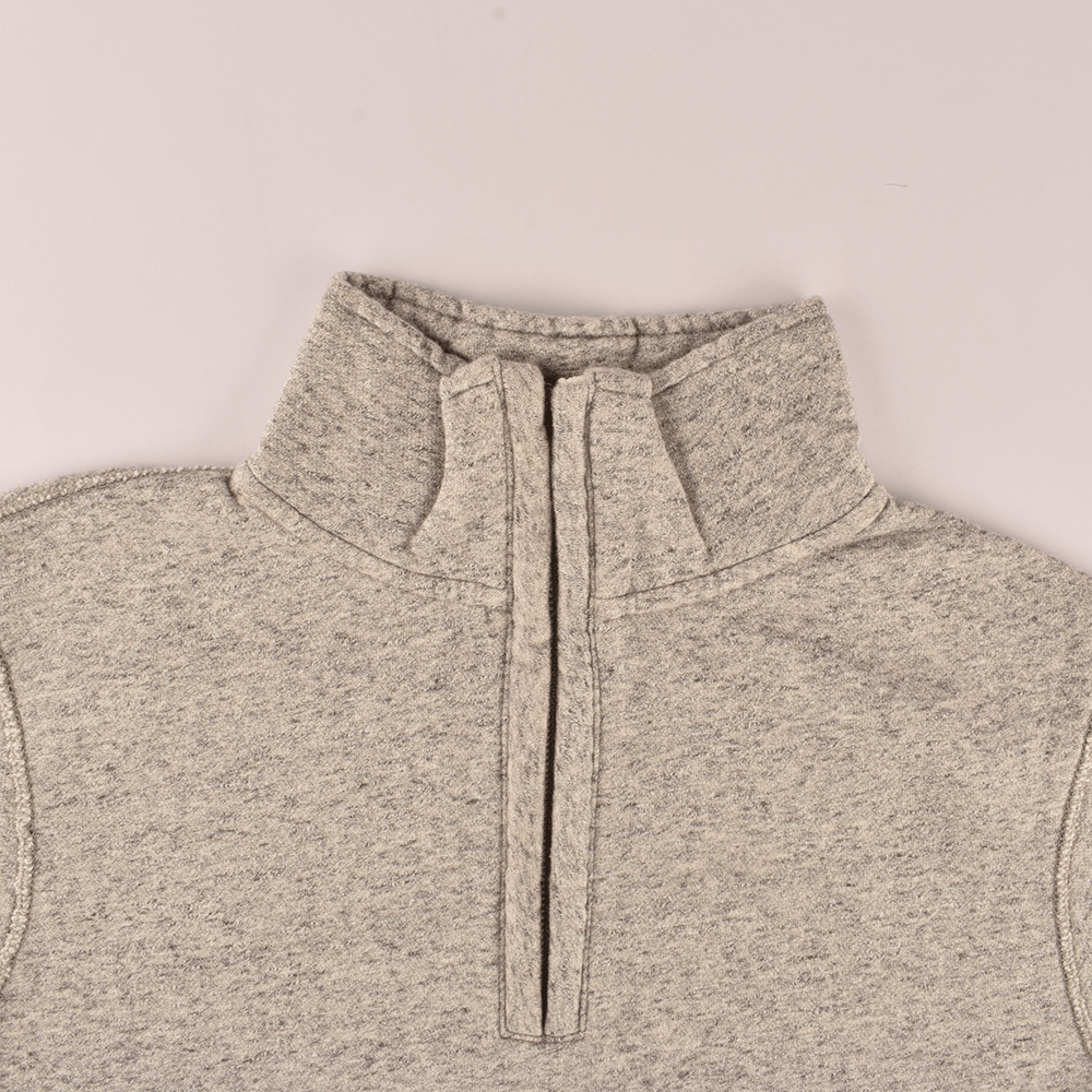 TG (Cut Label) Men's 1/4 Zipper Velsk Brushed Fleece Sweat Shirt Men's Sweat Shirt MAJ