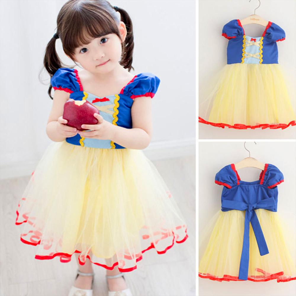 Baju Cosplay Snow White Sleeveless Frock Girl's Frock Sunshine China 4-5 Years